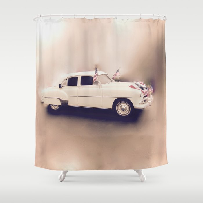 1952 Deluxe Chevy Belaire Hotrod Shower Curtain