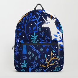 Deericorn In Blue Backpack