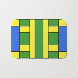 They were all yellow... blue and green Bath Mat