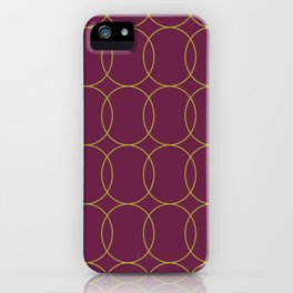 Fly Home Collection-  Circle Pattern Deep Red Violet  iPhone Case
