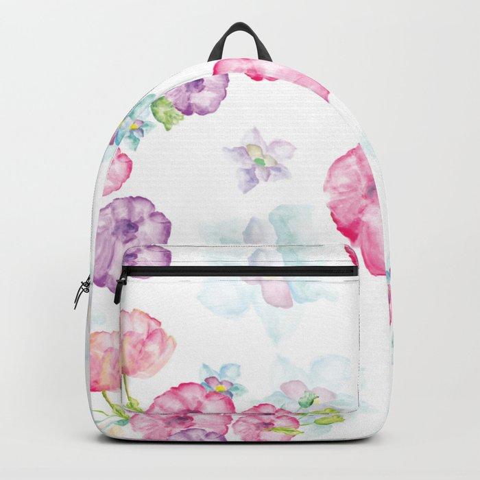 Delicate Floral Pattern 01 Backpack
