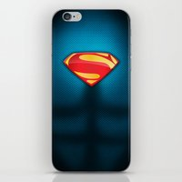 man of steel iPhone & iPod Skins featuring Man of Steel Suit by Roboz