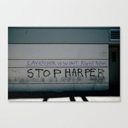 Stop Harper - Lavender Is So Hot Right Now Canvas Print