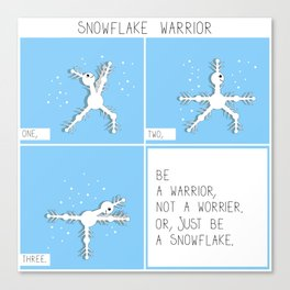 Snowflake warrior square comic Canvas Print