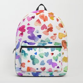 Melting hearts - Multicolored love Backpack