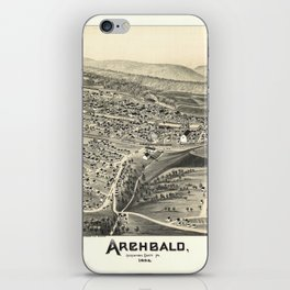 Aerial View of Archbald, Pennsylvania (1892) iPhone Skin