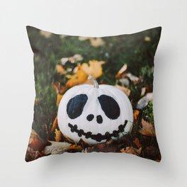 Jack Skeleton Pumpkin Throw Pillow