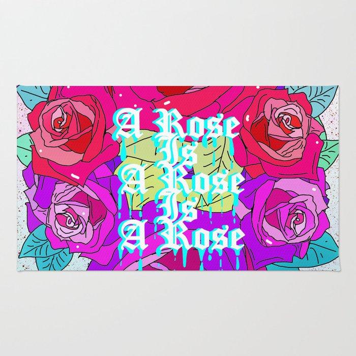 A Rose Is A Rose Is A Rose Rug