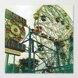 Coney Island Ferris Wheel Canvas Print