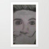 niall horan Art Prints featuring Niall Horan by Alex Rosalez