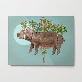 El espacio cortopunzante. Bestiario: Hipopótamo Metal Print