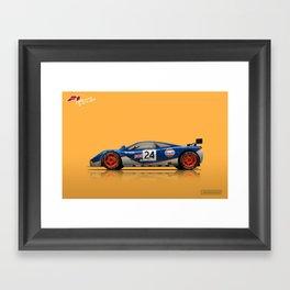 McLaren F1 GTR #02R - 1995 Le Mans 4th place - Side View Framed Art Print