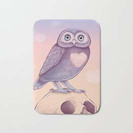 Little Owl + Skull Bath Mat