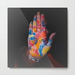 Colored hand Metal Print