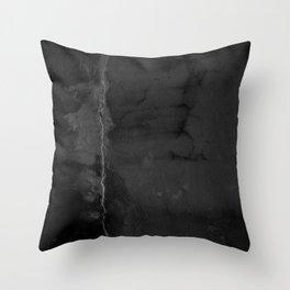 Black Leak Throw Pillow