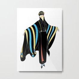 "Art Deco Design ""Fashion Costume"" by Erté Metal Print"