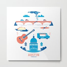Love Letter to Austin, Texas Metal Print