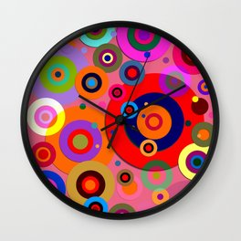 Op Art #18 Wall Clock