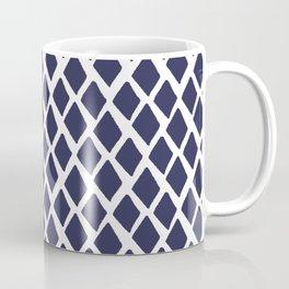 Rhombus Blue And White Coffee Mug