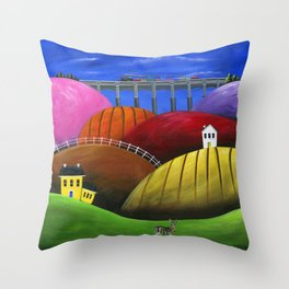 Hilly Hello Throw Pillow