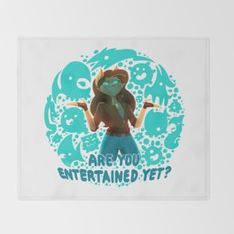 Are you entertained yet? || ScribbleNetty (Colored) Throw Blanket