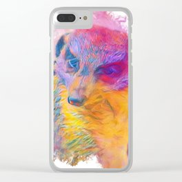 Painterly Animal -Meerkat Clear iPhone Case