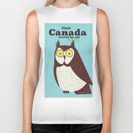 Canada Owl vintage poster Biker Tank