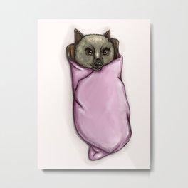 Burrito Bat Metal Print