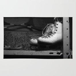 Vintge Skates-B&W Rug