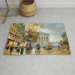 Rue Royale Madeleine, Paris by Antoine Blanchard Rug
