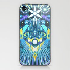The Reaper War: Control Ending - Quarian Tapestry Art Style (blue/lavender ver.) iPhone & iPod Skin