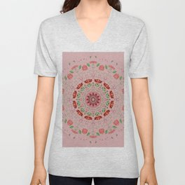 Roses and Carnations 1a Unisex V-Neck