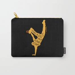 Check Out My Handstand - Funny Fitness Gifts Carry-All Pouch