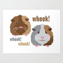 Wheek Wheek Guinea Pigs Art Print