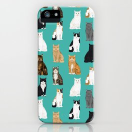 Cat lover must have gifts for cat ladies cat men kitty cats iPhone Case