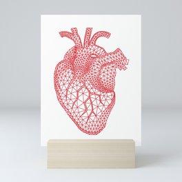abstract red heart Mini Art Print