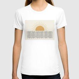 Sunrise Ocean -  Mid Century Modern Style T-shirt