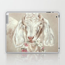 Goat with Floral Wreath by Debi Coules Laptop & iPad Skin