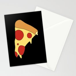 Flat Leaky Pepperoni Pizza Stationery Cards