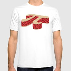 Pi Pie MEDIUM White Mens Fitted Tee