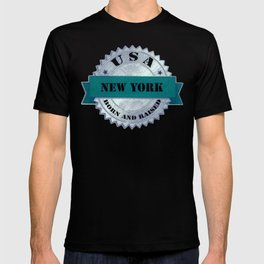 New York Born and Raised USA T-shirt
