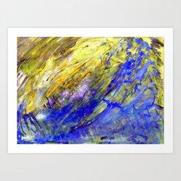 Nature aqua Art Print