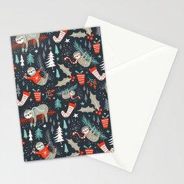 Slothy Holidays Stationery Cards