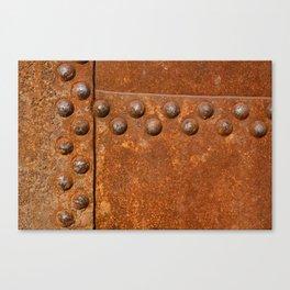 Rusty metal wall surface Canvas Print