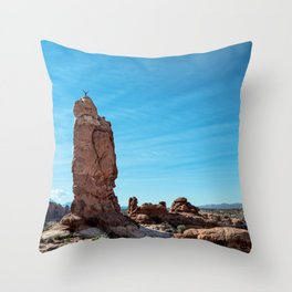 Arches Handstand Throw Pillow