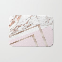 Geometric marble - luxe rose gold edition I Bath Mat