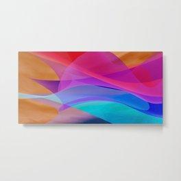 bicubic waves Metal Print