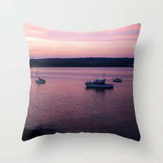 Dusk in the Harbour. Throw Pillow