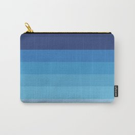 Butterfly Princess Blue Stripes Carry-All Pouch