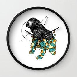 Bear geometric Wall Clock